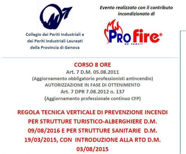CORSO PROFIRE 23/01/18