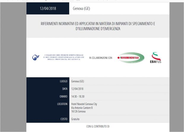 Seminario Associazione Prevenzione Incendi Italia 12/04/18