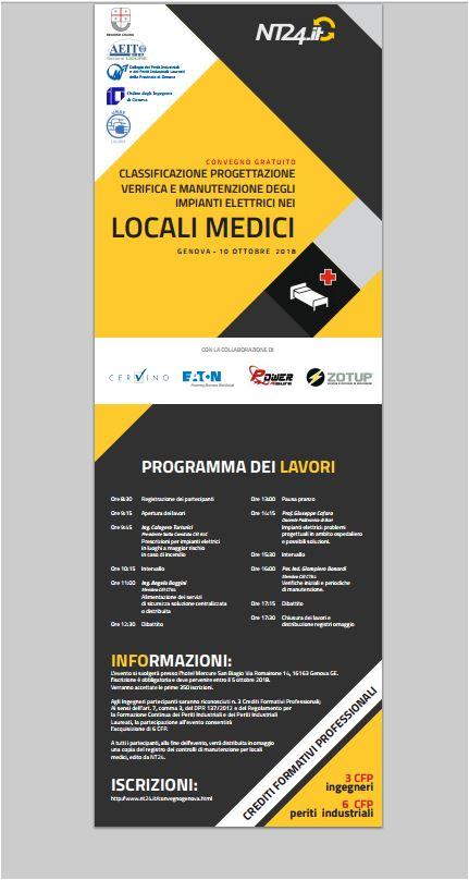 Seminario NT24 – Classificazione progettazione verifica e manutenzione impianti elettrici Locali Medici