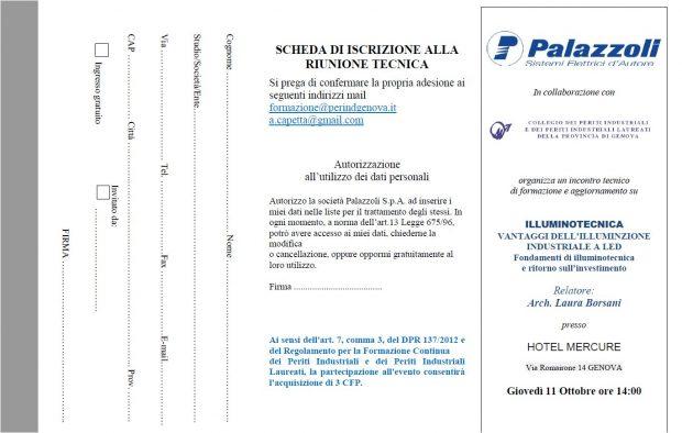 Seminario Illuminotecnica Palazzoli 11/10/18