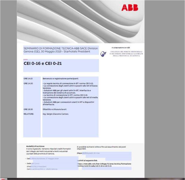 ABB CEI 0-16 E CEI 0-21 – 30/05/2019